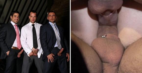 Men At Play - Gentlemen : Daniel Marvin, Pedro Andreas, Marco Blaze Gay Sex Threesome