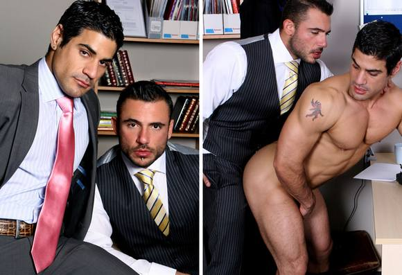 Pedro Andreas in suit fuck Daniel Marvin