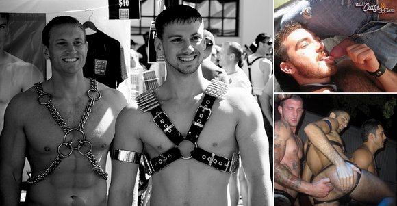 Gay Porn Stars at Folsom Street Fair 2008