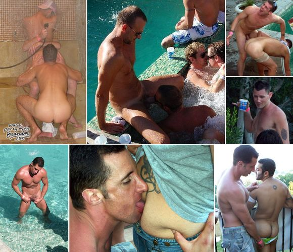Gay Porn Stars at Rentboy Pool Party 2008 Los Angeles