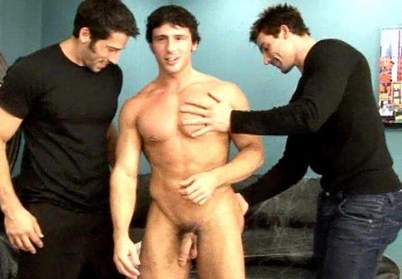 Randy Blue Halloween muscular gay porn stars Reese Rideout Leo Giamani  Kevin Falk