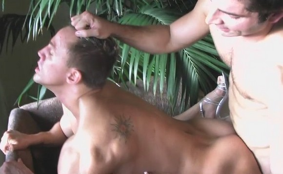 Straight muscular guy Dean Coxx getting fucked in the ass