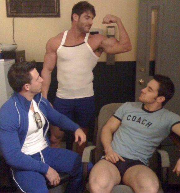 muscular Randy Blue models Jeremy Walker Reese Rideout Chris Rockway in The Coach 2