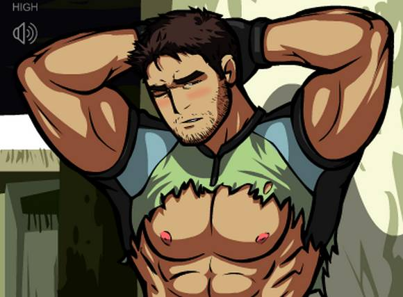 Chris Redfield naked