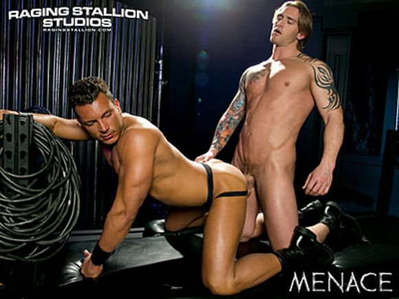 Raging Stallion Exclusive gay porn star DAVID TAYLOR muscular latin Angelo Marconi