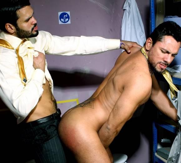 gay porn star Jean Franko in suit fucks Tiko