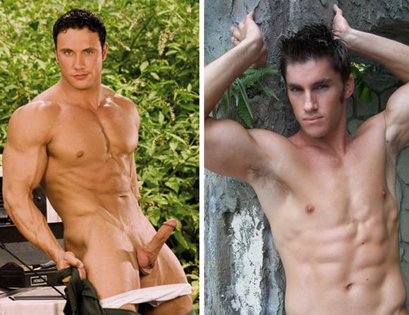 muscular gay porn star Jason Adonis Hayden Stephens at Jet Set Men