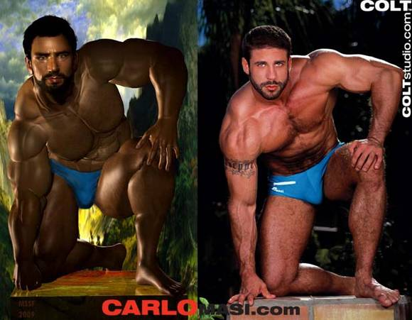 COLT Man gay porn star bodybuilder Carlo Masi