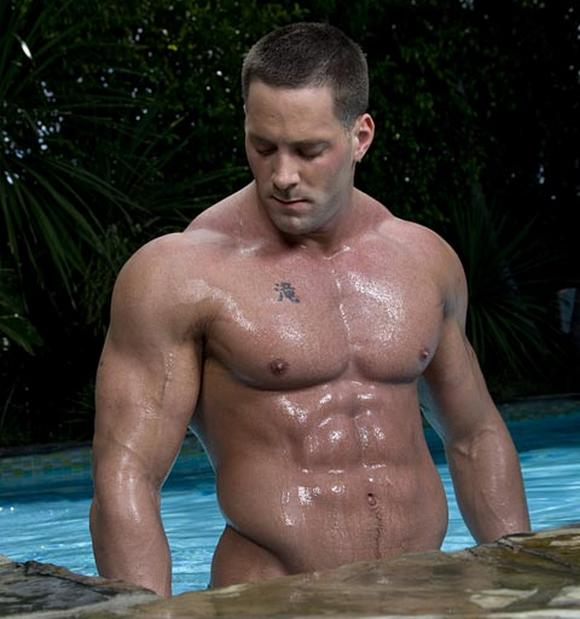 Randy gay guys fucking in a swimming pool