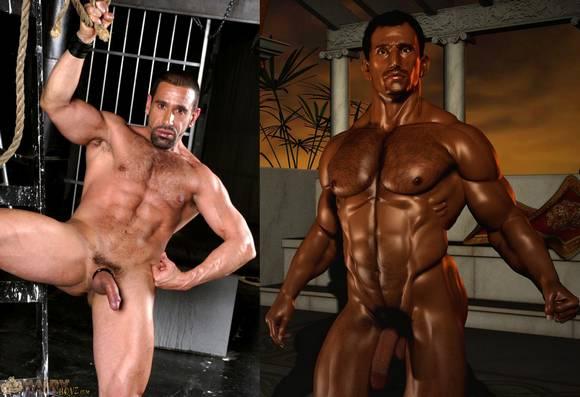 hairy musuclar gay porn star Leo Rocca