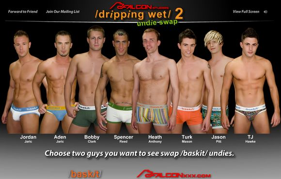 Falcon Gay Porn Stars Flash Game Dripping Wet 2  Undie Swap-5238