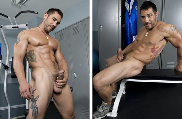 muscular stud Cayden Ross naked