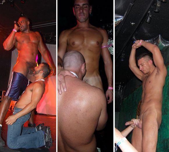 gay porn stars at HustlaBall New York 2009 hard cock and oral sex public sex