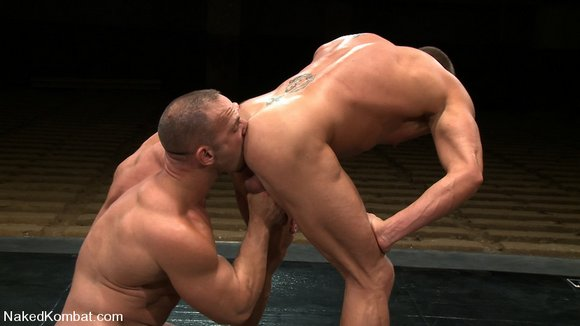 Muscle gays domination and cumshot -