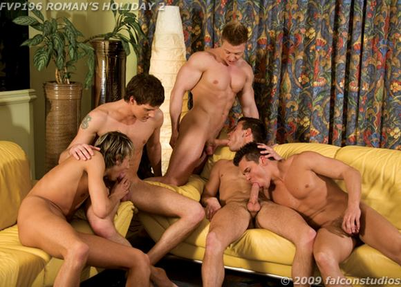 gay porn star Roman Heart in Roman Holiday 2 gay sex orgy
