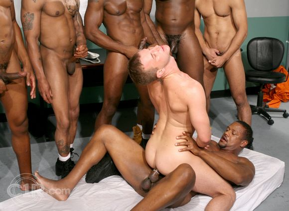 gay porn star Cameron Adams getting fucked by Aron Ridge in Black Balled 7