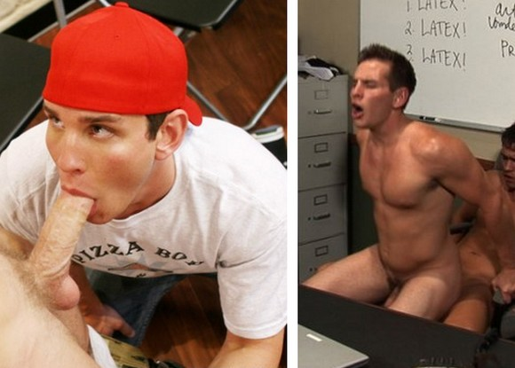 gay porn star Dylan Roberts aka Dylan McLovin sucking cock and getting fucked