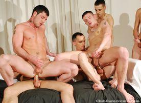 Gang Bang Ladz Kai Cruz, Jake Adams, Niall Patrick, Danny Starr, Matt Brooks, Troy Bolton, and Kallum Ash gay sex orgy
