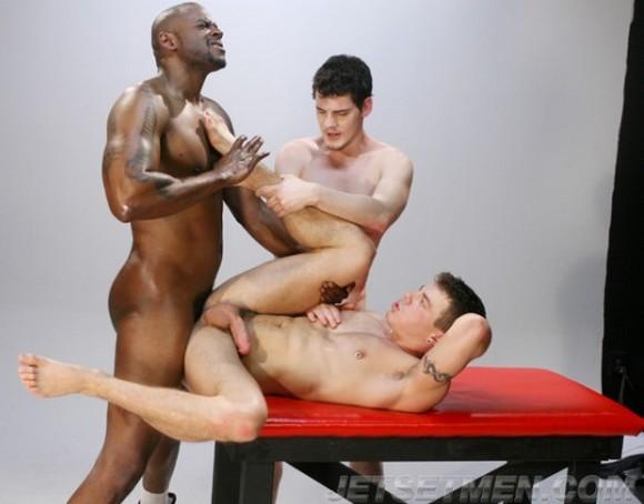 gay porn star Diesel Washington fucking Jesse Santana Casey Monroe in Getting Levi Johnson gay porn