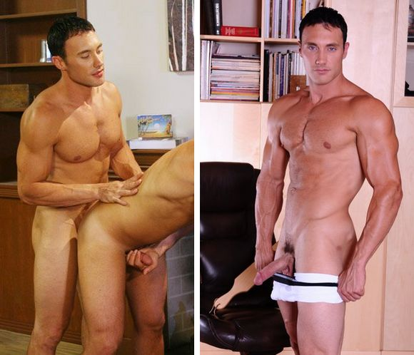 muscular gay porn star Jason Adonis Unseen gay Sex