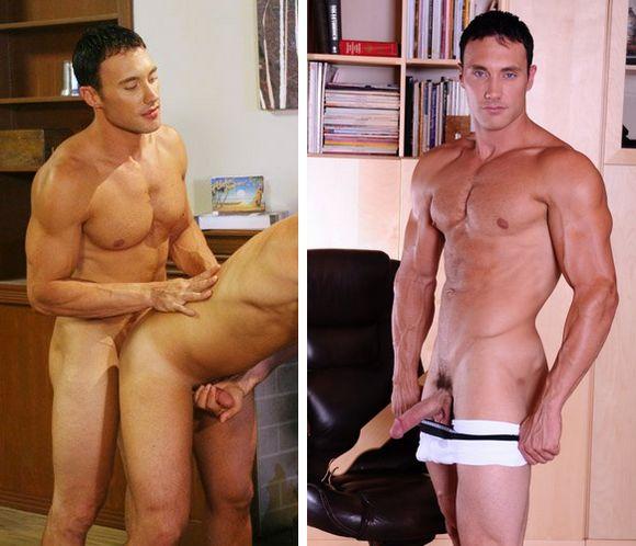 muscular gay porn star Jason Adonis Unseen gay Sex