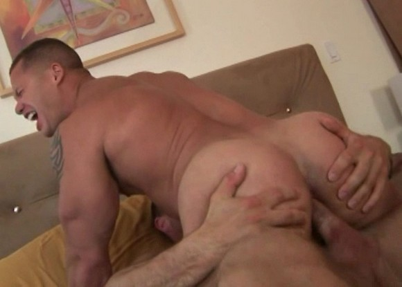 gay porn star Matthew Rush getting fucked by Jack Dragon