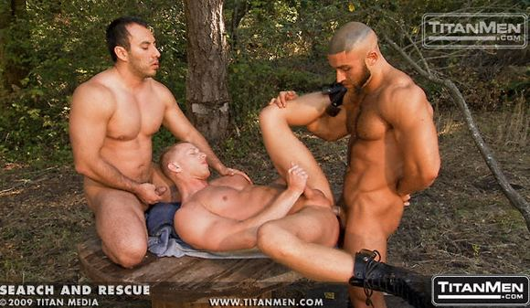 Francois Sagat and Niko Fuck JR-Matthews in Titan Men Search and Rescue