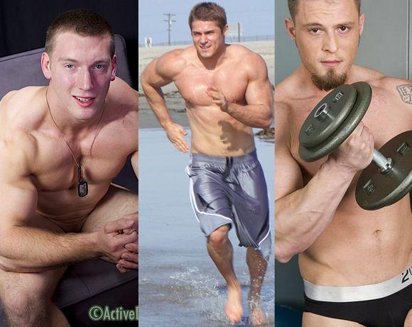 muscle bodybuilder gay porn star Maxx Alexander and Brock Traynor