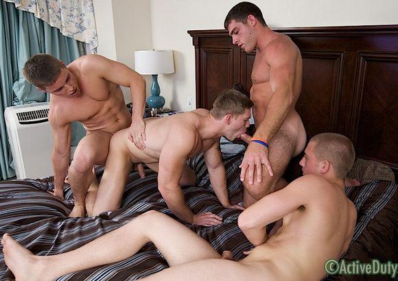 military gay sex orgy Pullin Rank 3 Pullin' Rank 3 Thomas, Kaden, Damien & Randy
