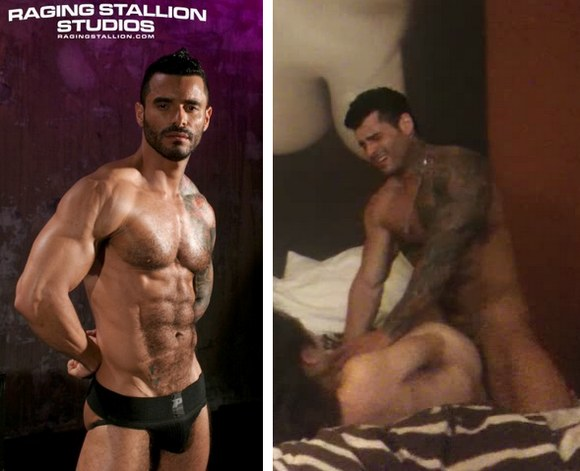 bodybuilder gay porn star Alexsander Freitas XXX home video sex with asian tranny