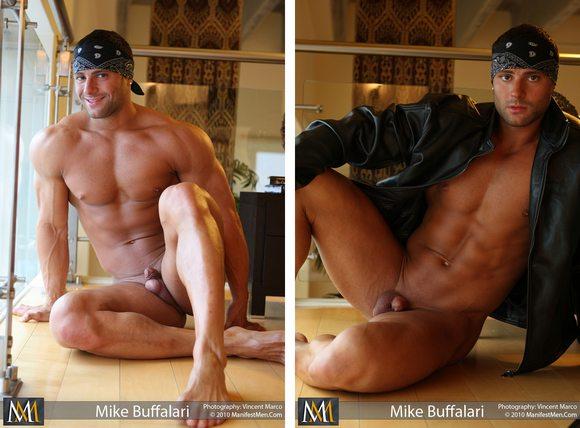 bodybuilder nude muscle Mike Buffalari Manifest Men