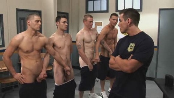 Gay cops fucking force hunk