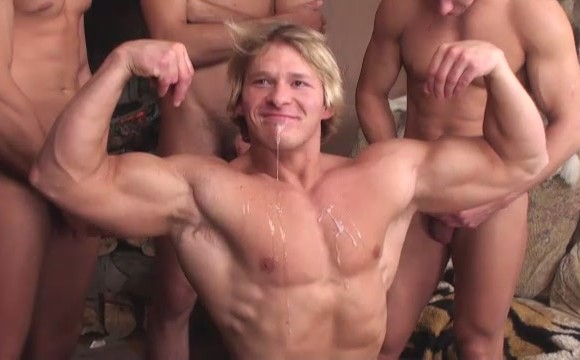 Cum on muscle