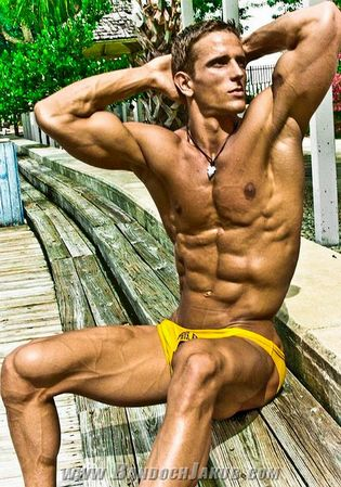 Clip dildo man muscular