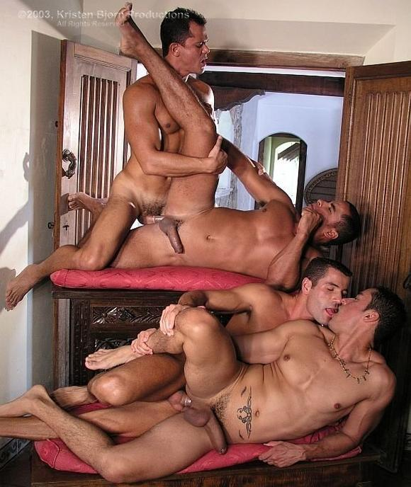 Hung homo latinos in kinky three some plough