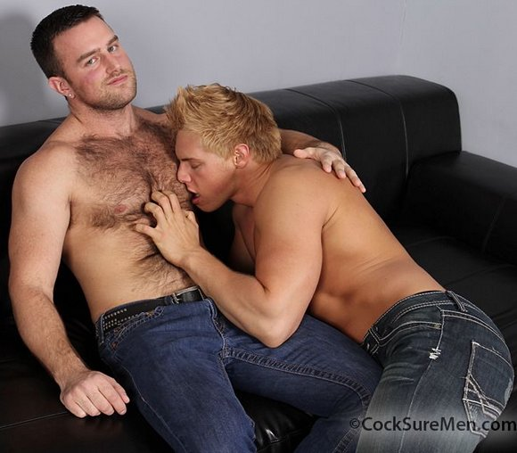 Hairy men in gay porn