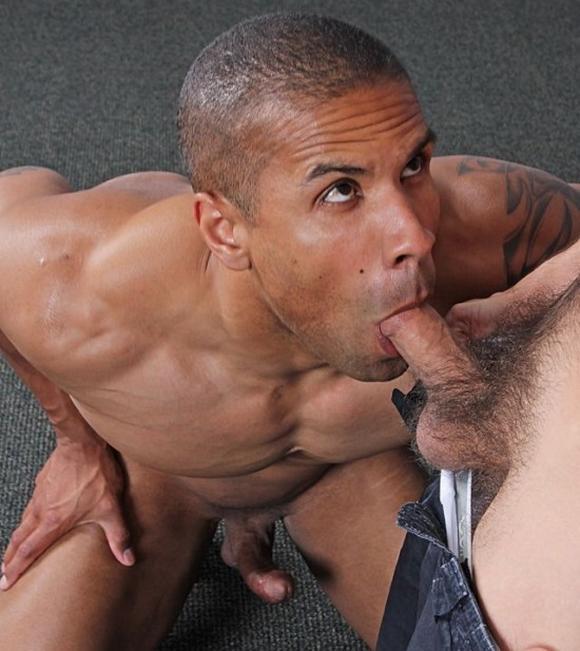 Men in blue gay porn blake