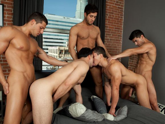 Best of Gay Bed Orgy