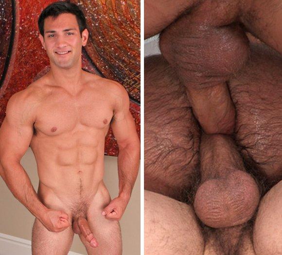 Gay bareback double fuck