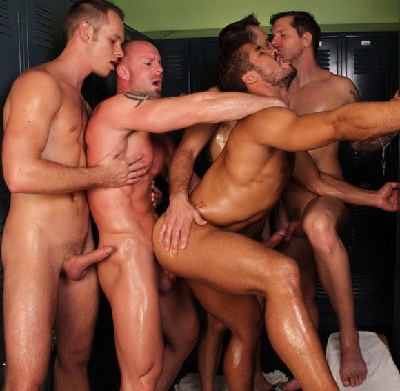 Most popular orgy gay porn pics