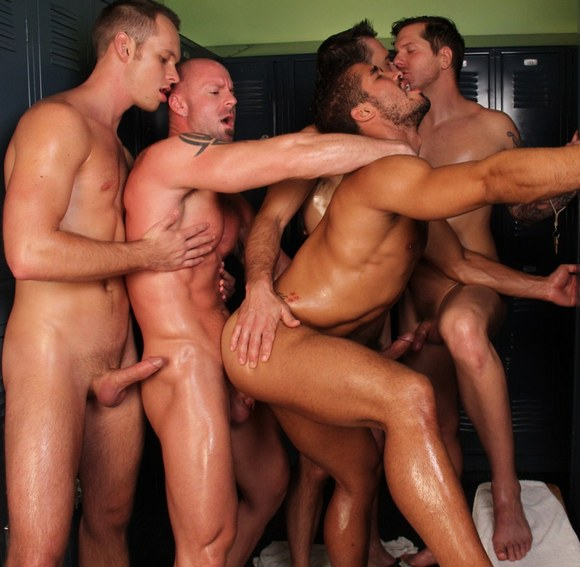 Bareback Cum Party From Hot Latinos