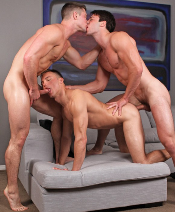 Gay threesome sex