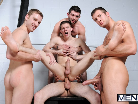 65 men gang bang