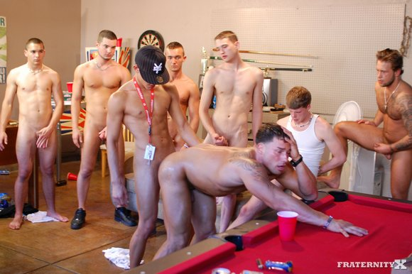 Frathouse orgy sex