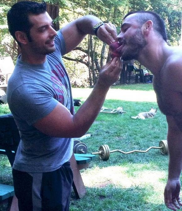 Marcus ruhl drooling on cock