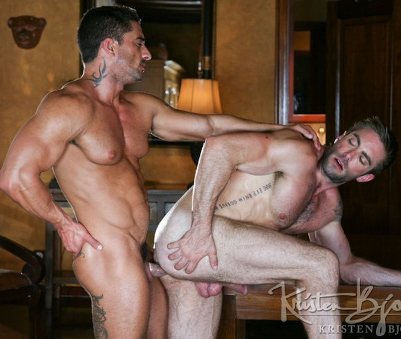 Amazing gay scene both guys give what looks 3
