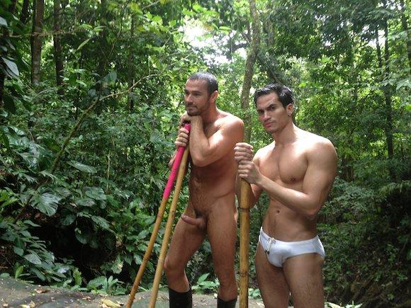 Gay men hiking clipz