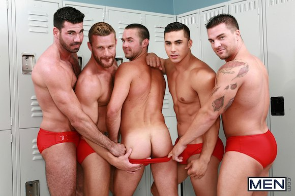 Gay orgy i watched him wank a bit but i 10