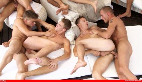 Butt fucking orgy