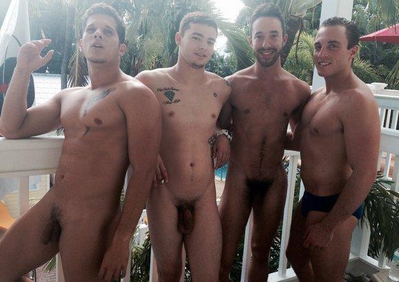 naked men in key west